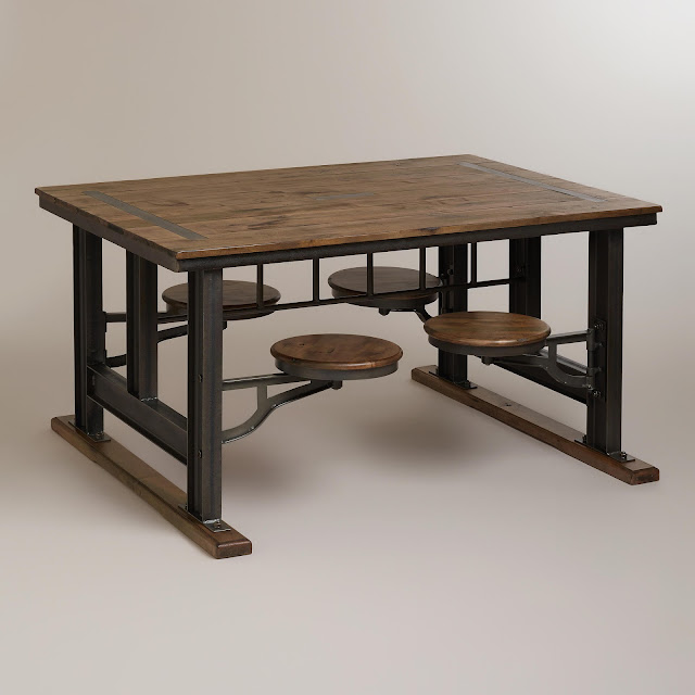 Copy Cat Chic Nuevo V45 Reclaimed Wood Top Dining Table