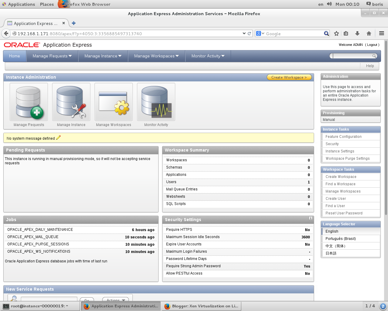 Xen Virtualization on Linux and Solaris: Running Oracle XE