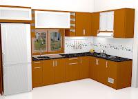 Furniture Interior Rumah Komplit Semarang - Sesi 1 Interior Ruang Dapur & Keluarga