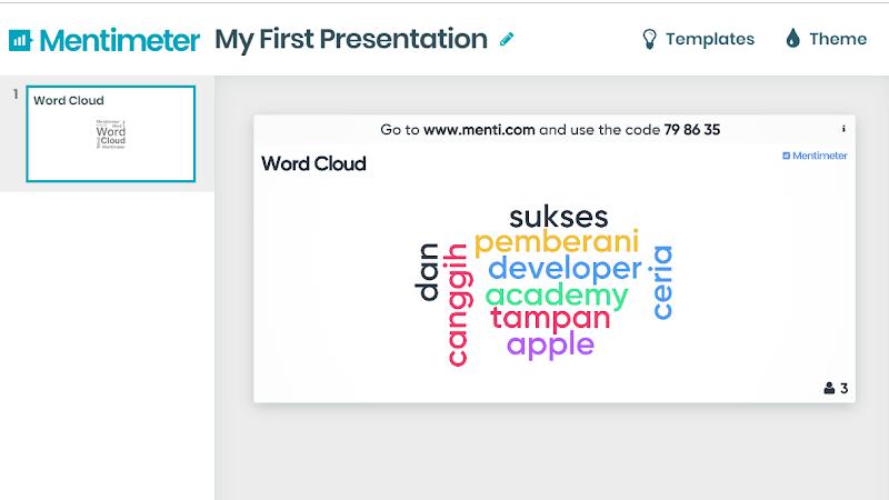 MENTIMETER Untuk Membuat Slide Presentasi Interaktif Online