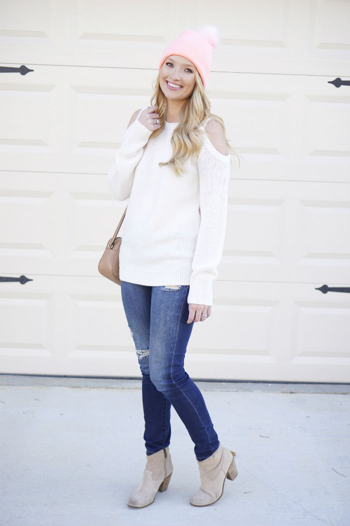 forever21 beanie, cheap fall fashion, Target finds, affordable fall sweaters