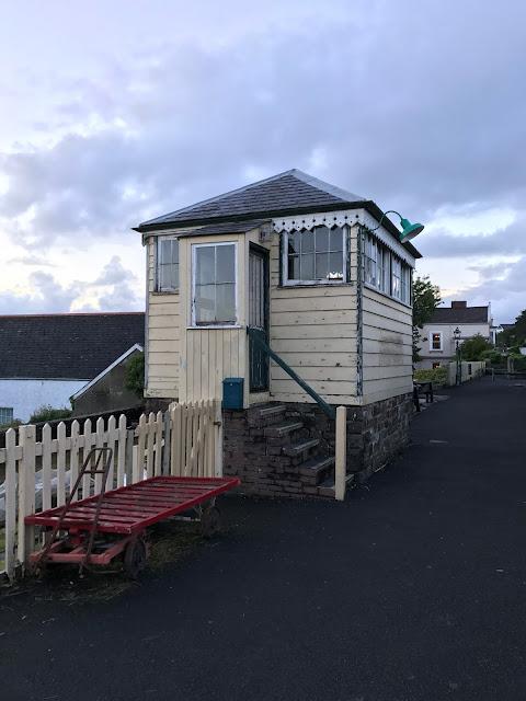 Cycling the Tarka Trail, restored signal box, Bideford, Devon