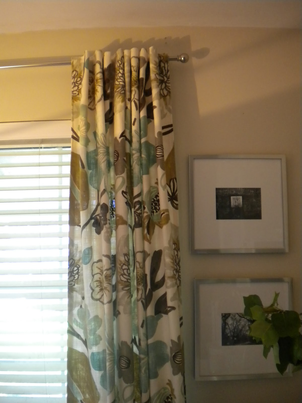 Large Floral Print Drapes { Dining Room Update }