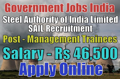 Steel Authority of India Limited SAIL Recruitment 2018
