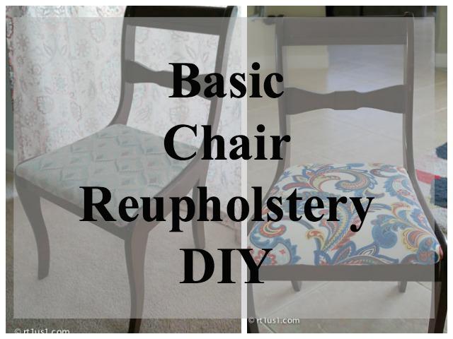 Basic Chair Cushion Reupholstery DIY