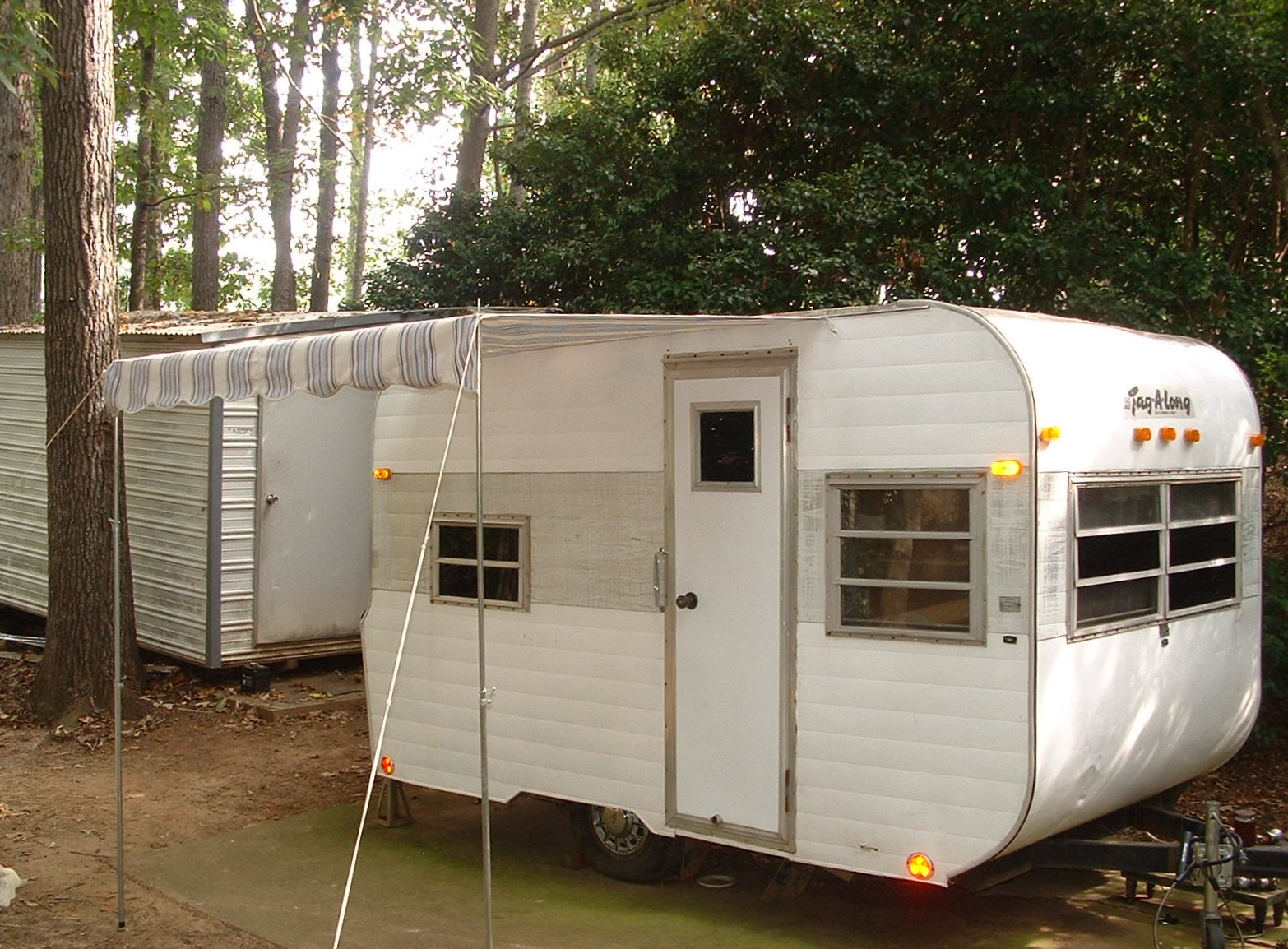 7 X 5 Basic Style Vintage Trailer Awning SOLD