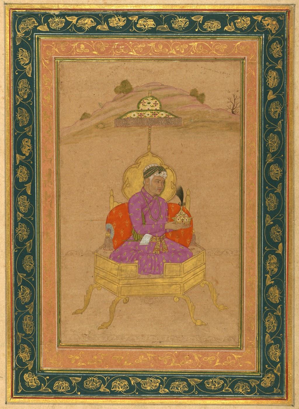Portrait of Third Mughal Emperor Akbar - Mughal Painting, Circa 18th Century