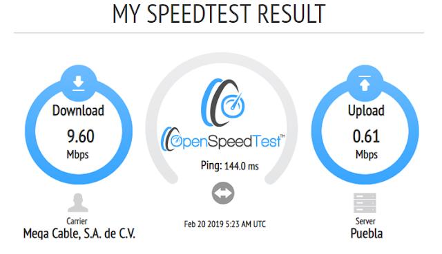 medir velocidad de internet con openspeedtest