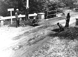 Image credit:  United States National Archives. Filipino soldiers prepare to blow up a bridge in Batangas, 1941.