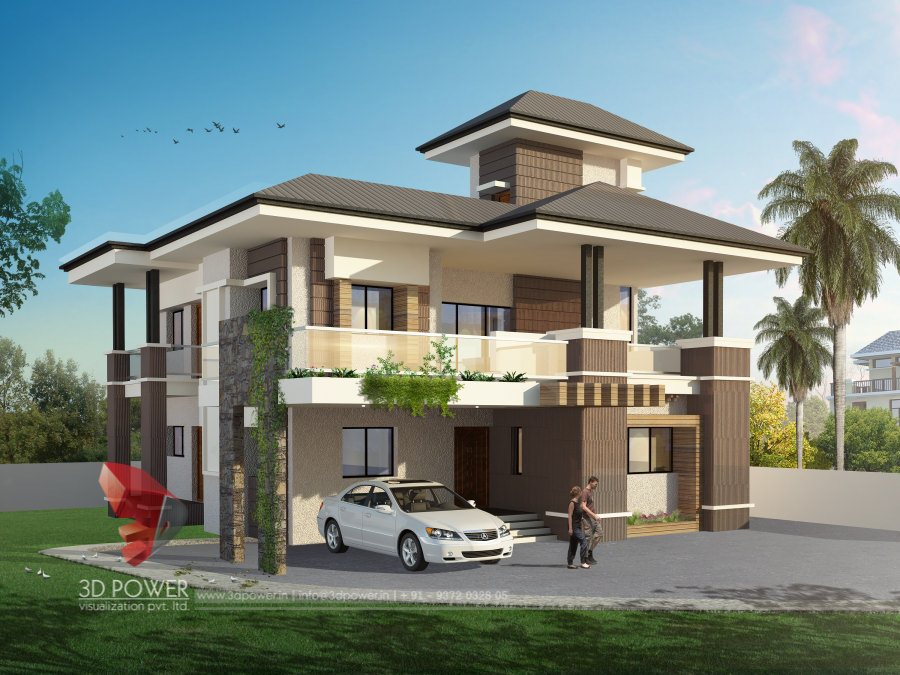 Residential towers row houses township designs villa House designer 3d
