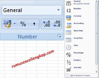 gambar format cell number pada ikon