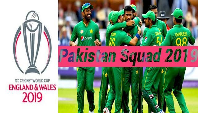 Pakistan sqaud 2019