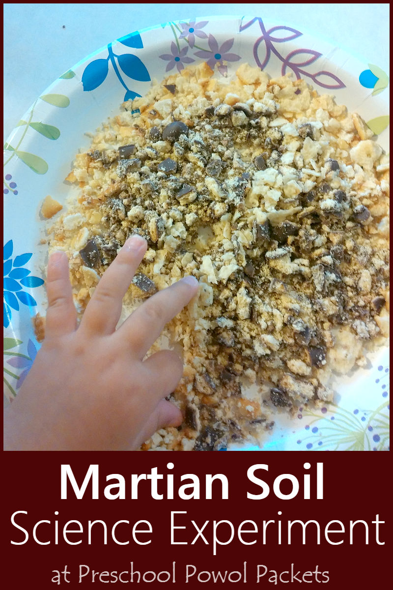Edible mars soil space experiment preschool powol packets for Uses of soil for kids