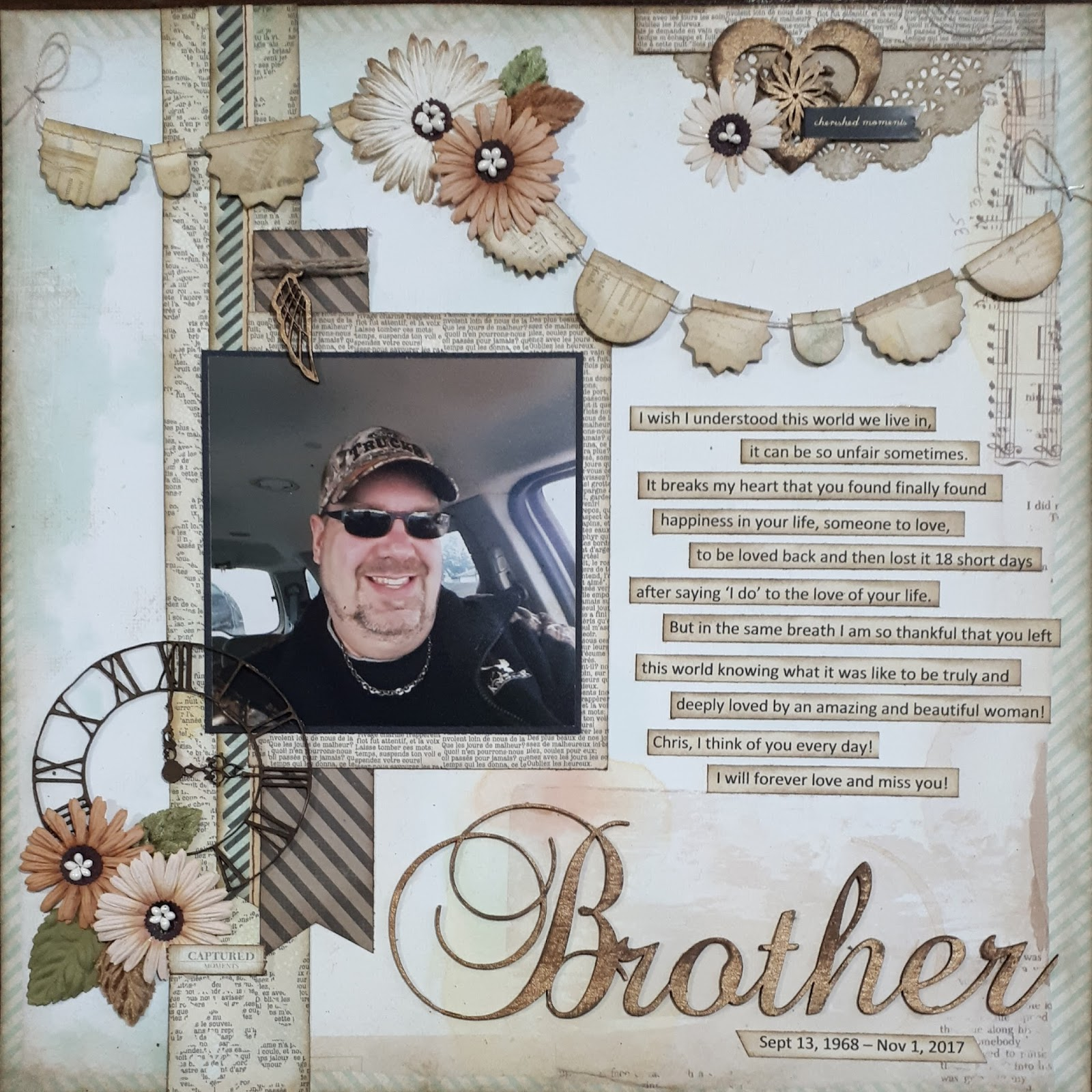 Southern Ridge Trading Company My Brother Scrapbook Layout With