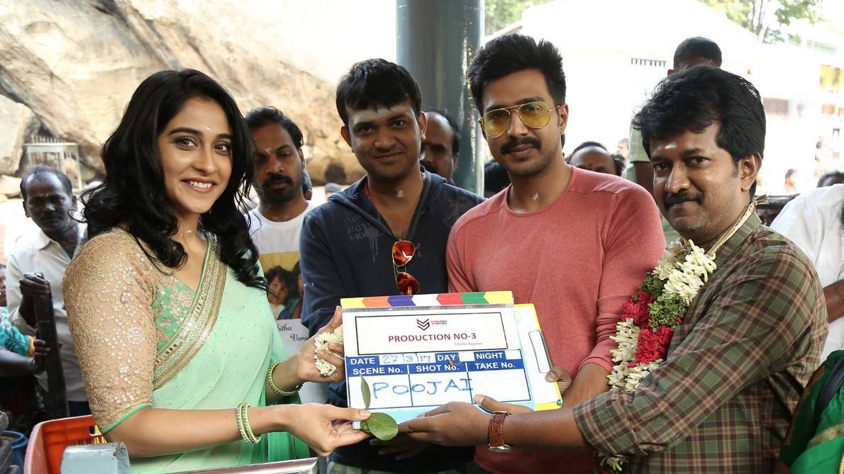 Regina Cassandra Vishnu Vishal Prod No 3 New Movie Launch Stills