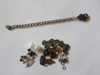 Cadena bronce con el cierre para pulsera vintage