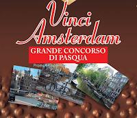 Logo Vinci Amsterdam con le uova di Pasqua Novi