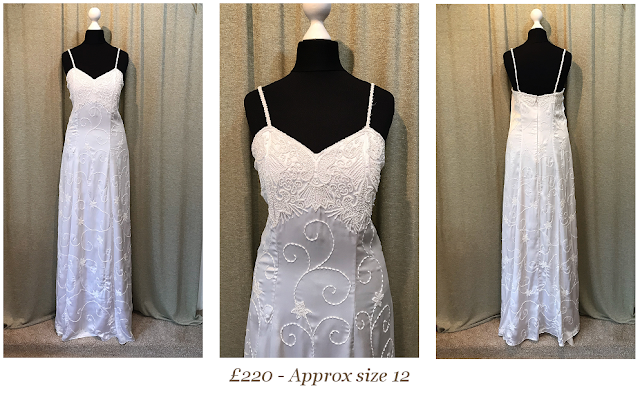 beaded gatsby art deco 1920's style vintage wedding dress available at vintage lane bridal boutique in bolton , manchester, lancashire