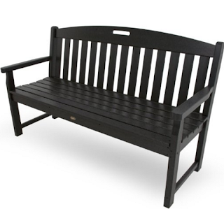 Charcoal Black Trex 60-Inch Yacht Club Bench