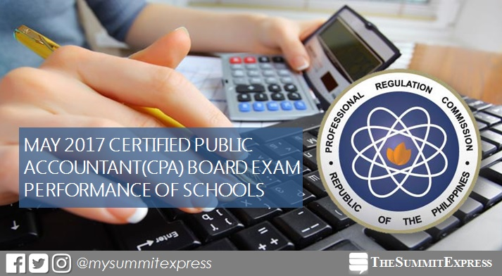 Top performing school, performance of schools CPA board exam May 2017