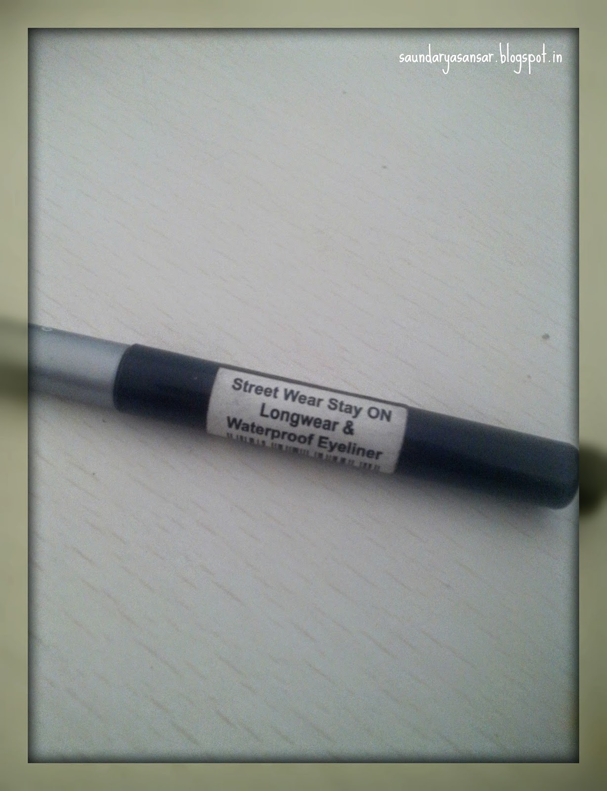 Street Wear STAY ON long wear and water proof eye liner in 03 Onyx Review