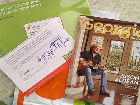 اثبات وصول مجلة Georgia الرائعة يمكنك الحصول عليها أنت أيضاً الى باب منزلك