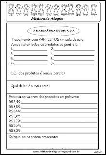 Atividade de panfleto em sala de aula