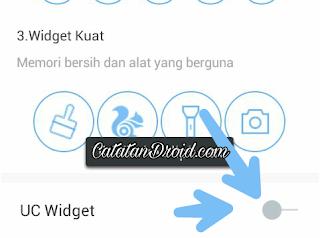 Cara Menghilangkan Widget Melayang UC Browser di Layar Android