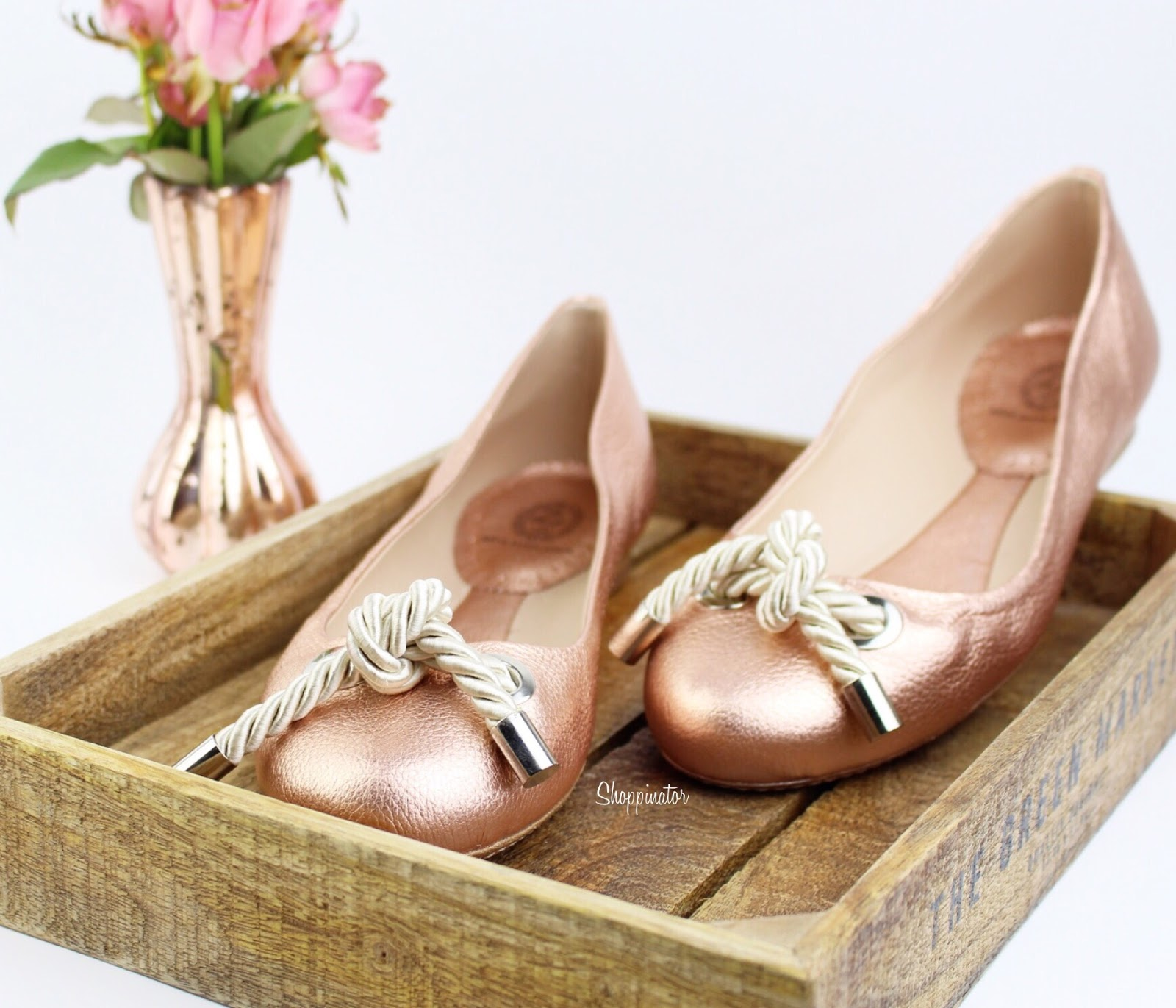 Shoppitipp – Roségoldene Ballerinas