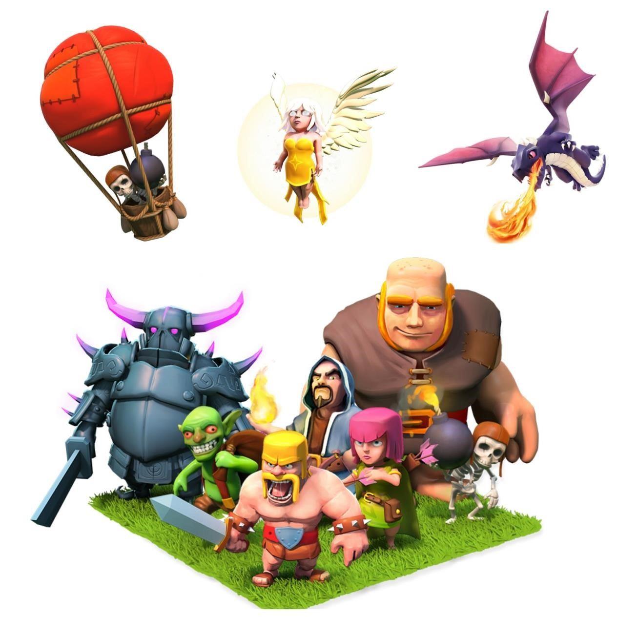 clash of clans karakter level keren
