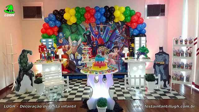 Decoração infantil dos Super Heróis Marvel - Mesa decorada Herois - Decoração provençal