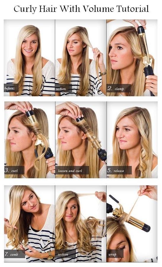 Phenomenal Make A Curly Hair With Volume Hairstyles Tutorial Short Hairstyles Gunalazisus