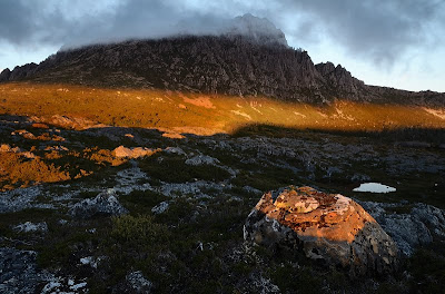 Sunset on Cradle Mountain from the Little Plateau - 15th April 2011