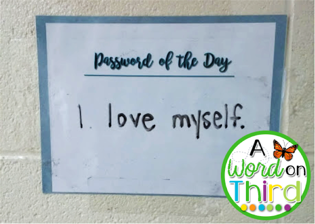 Set up a positive affirmation as a password to build confidence! - By A Word On Third