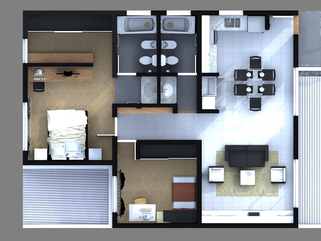 Iu arquitectura y dise o dise o express iuarq for Diseno de apartamento en segunda planta
