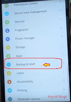 backup and reset - Hard Reset Android Lenovo VIBE K4 NOTE
