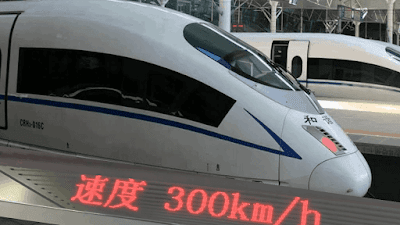 Beijing–Shanghai high-speed railway with the world's fastest operating conventional train