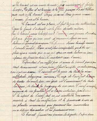 Cahier de compositions françaises, élève et date inconnus (collection musée)
