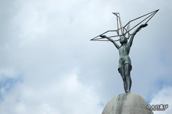 Statue de Sadako Sasaki, Monument de la Paix des Enfants, Parc de la Paix, Hiroshima