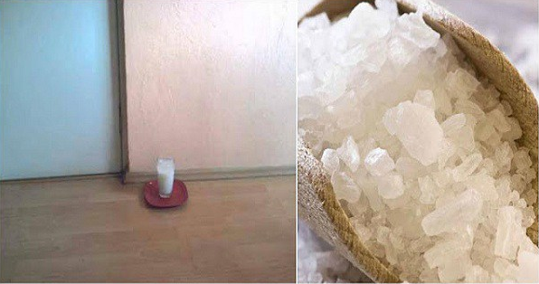 Leave A Glass Of Water With Salt And Vinegar At Your Home And See The Changes In 24 Hours!