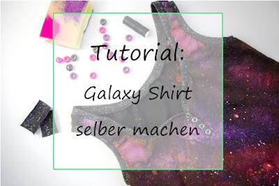 Upcyling Galaxy Shirt selber machen