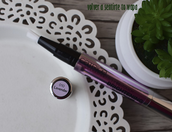 Re-Touch Brightening Concealer de Catrice - tono 010 Lavender