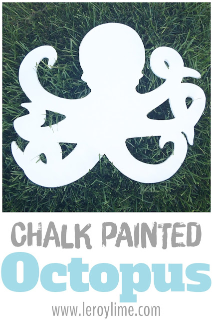 Chalk Painted Octopus - easy redo - LeroyLime the Blog