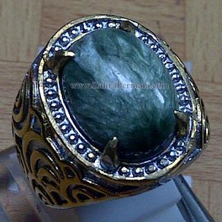 Cincin Batu Bulu Macan Ijo - ZP 1028