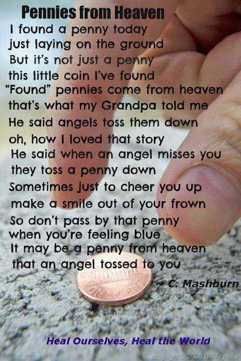 Pennies From Heaven Story: In God We Trust
