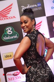 Actress Mumaith Khan Pictures in Black Dress at Mirchi Music Awards South 2015  0054