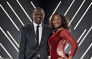 Kanu Nwankwo and his wife, Amara