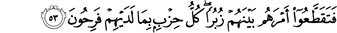 Surat Al Mu'minun ayat 53