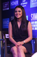 Actress Shraddha Srinath Stills in Black Short Dress at SIIMA Short Film Awards 2017 .COM 0051.JPG