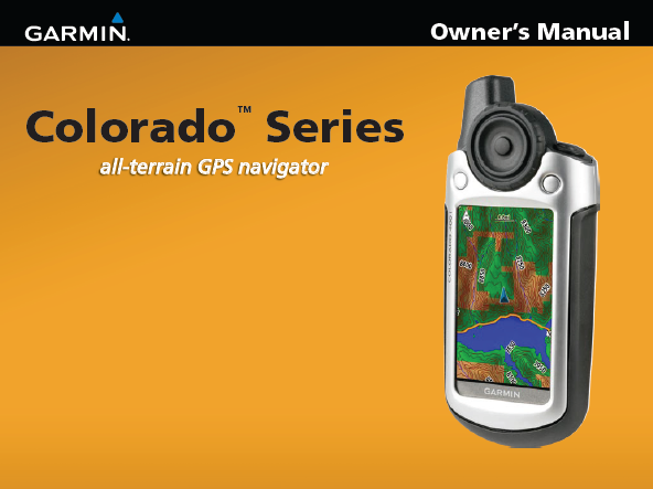Garmin Colorado 300 Manual